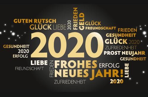 Wir wünschen Ihnen ein erfolgreiches Jahr 2020